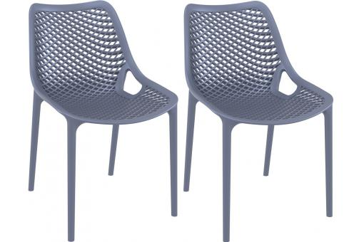 Lot de 2 Chaises design anthracite Max