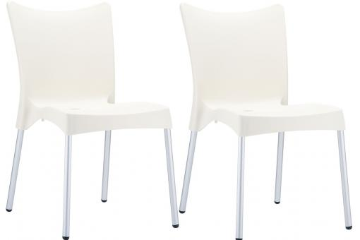 Lot de 2 Chaises design Beiges JULIE