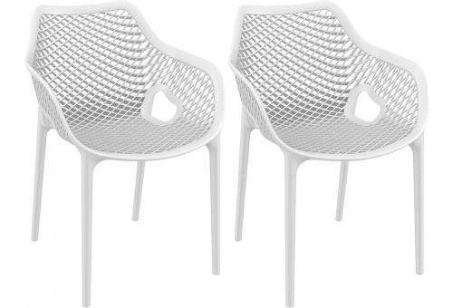 Lot de 2 Chaises design Blanches AERIA