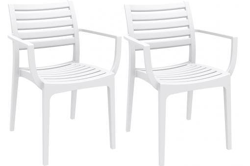 Lot de 2 Chaises design Blanches ARAMIS