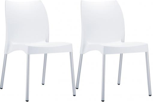 Lot de 2 Chaises design Blanches MARTHA