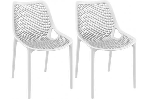 Lot de 2 Chaises design Blanches Max