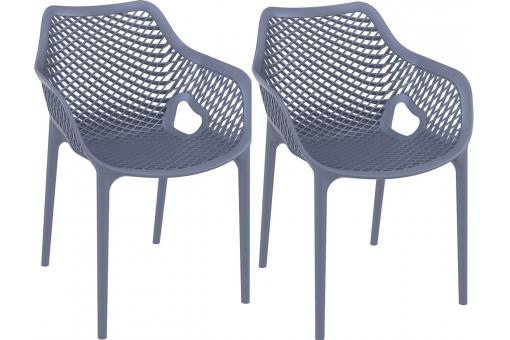 Lot de 2 Chaises design Grises anthracite AERIA