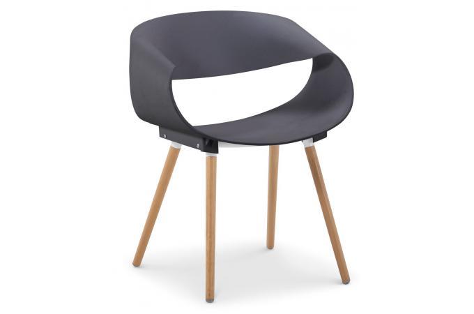 Lot de 2 chaises design grises eik chaise design pas cher for Lot de 6 chaises grises pas cher