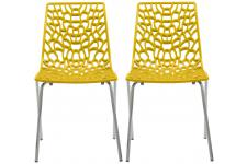 Lot De 2 Chaises Design Jaune TRAVIATA