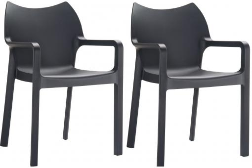 Lot de 2 Chaises design Noires DIVINA