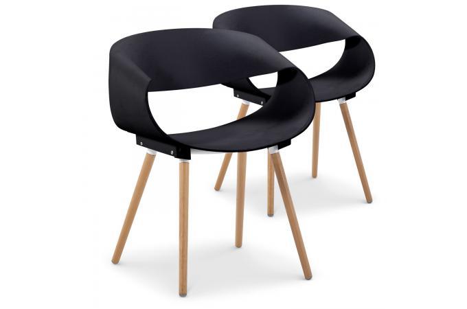 Lot De 2 Chaises Design Noires EIK