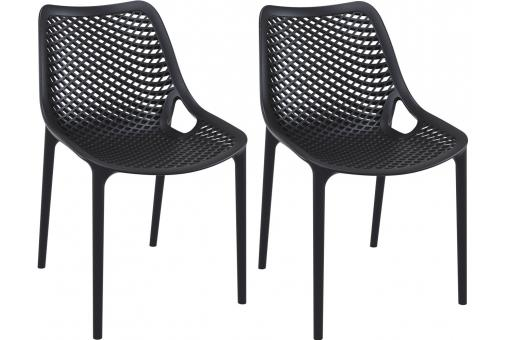 Lot de 2 Chaises design Noires Max
