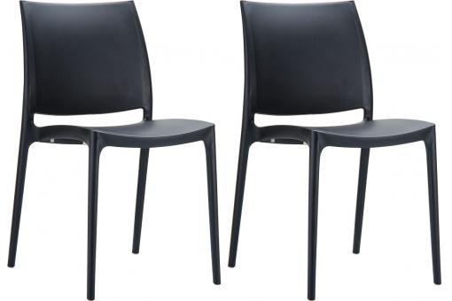 Lot de 2 Chaises design Noires Mimi
