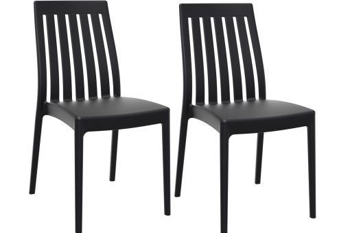 Lot de 2 Chaises design Noires SAMY