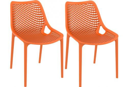 Lot de 2 Chaises design Oranges Max