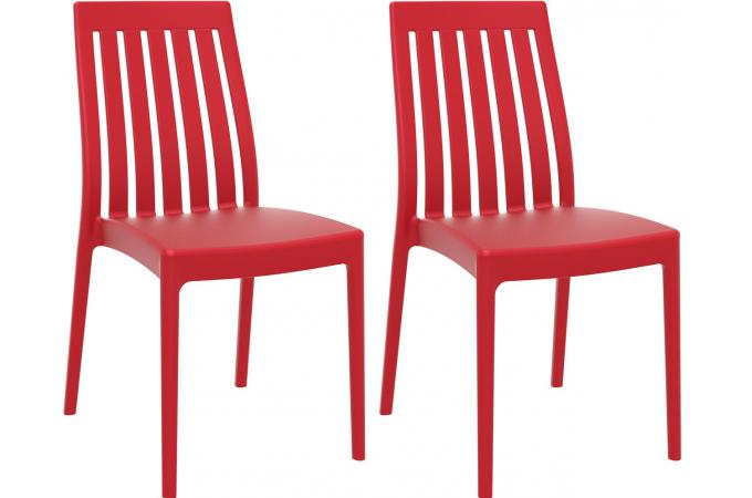 lot de 2 chaises design rouges samy chaise design pas cher. Black Bedroom Furniture Sets. Home Design Ideas