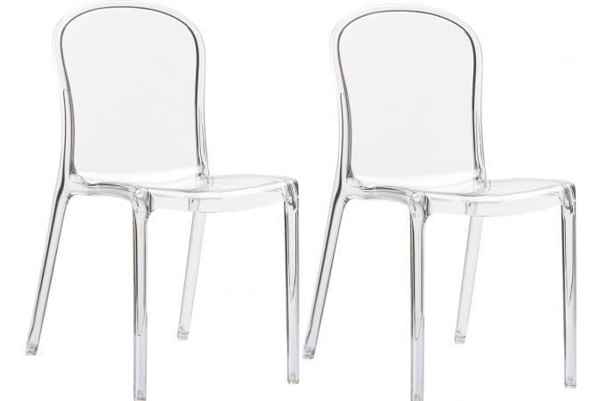 lot de 2 chaises design transparentes viva chaise design pas cher. Black Bedroom Furniture Sets. Home Design Ideas