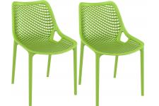 Lot de 2 Chaises design Vertes Max - Chaise verte