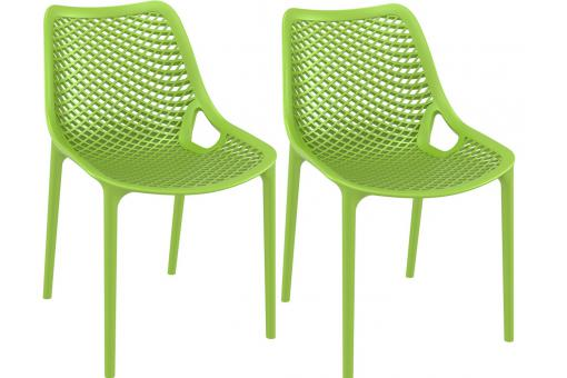 Lot de 2 Chaises design Vertes Max