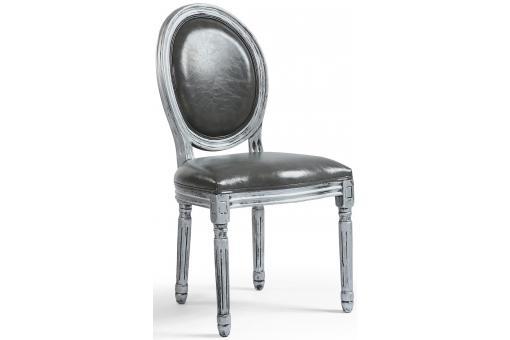 Lot De 2 Chaises Medaillon Argent VERSAILLES Chaise Design