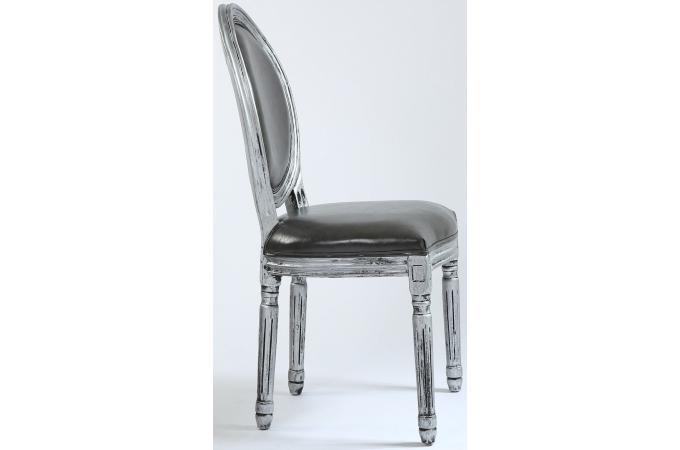 lot de 2 chaises m daillon argent versailles chaise design pas cher. Black Bedroom Furniture Sets. Home Design Ideas