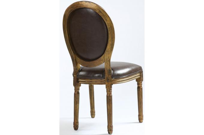 lot de 2 chaises m daillon marron vieilli versailles chaise design pas cher. Black Bedroom Furniture Sets. Home Design Ideas