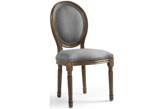 lot de 2 chaises m daillon tissu marron et gris versailles chaise design pas cher. Black Bedroom Furniture Sets. Home Design Ideas