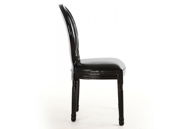 lot de 2 chaises m daillon transparent noir louisa chaise design pas cher. Black Bedroom Furniture Sets. Home Design Ideas