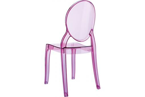 Lot de 2 chaises BABY ELIZABETH Rose Transparent