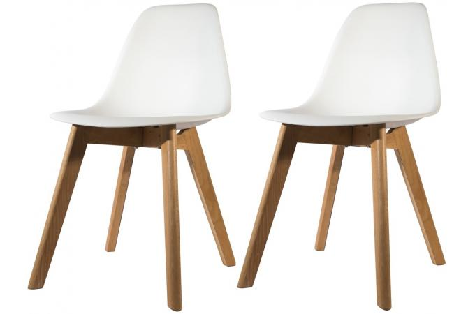 lot de 2 chaises scandinave coque blanche fjord chaise design pas cher. Black Bedroom Furniture Sets. Home Design Ideas
