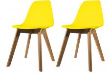 Lot de 2 chaises Scandinave Coque Jaune FJORD