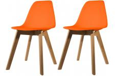 Lot de 2 chaises Scandinave Coque Orange FJORD - Chaise orange design