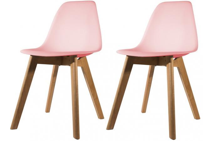 lot de 2 chaises scandinave coque rose fjord chaise design pas cher. Black Bedroom Furniture Sets. Home Design Ideas