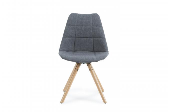 chaise scandinave en tissu gris triopse chaise design pas cher. Black Bedroom Furniture Sets. Home Design Ideas