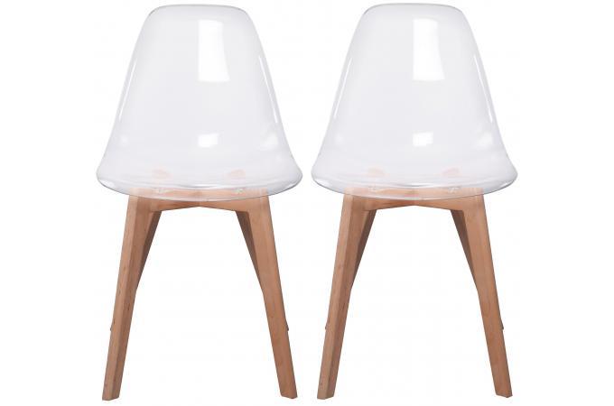 lot de 2 chaises scandinave transparente fjord chaise design pas cher. Black Bedroom Furniture Sets. Home Design Ideas