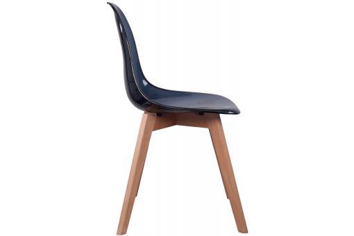 lot de 2 chaises scandinave transparente noire fjord chaise design pas cher. Black Bedroom Furniture Sets. Home Design Ideas
