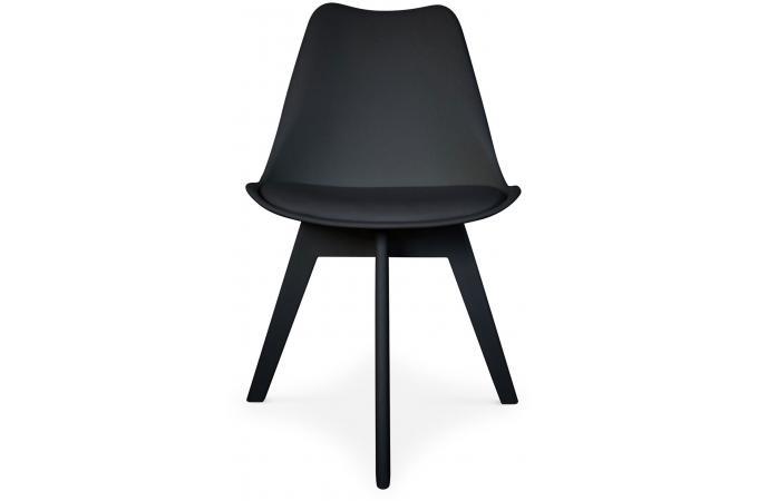 lot de 2 chaises scandinaves noires nira chaise design pas cher. Black Bedroom Furniture Sets. Home Design Ideas