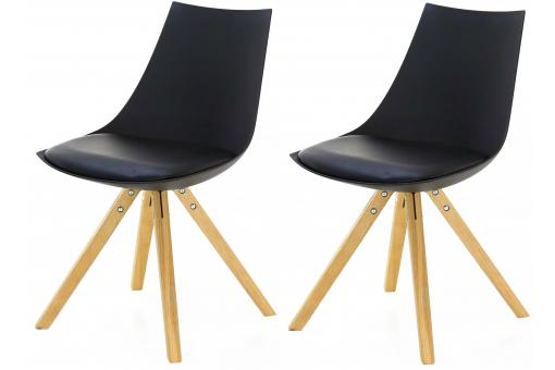 lot de 2 chaises scandinaves noires turin chaise design pas cher. Black Bedroom Furniture Sets. Home Design Ideas