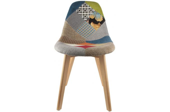 Lot de 2 chaises scandinaves patchwork color s fjord - Lot de chaise design pas cher ...