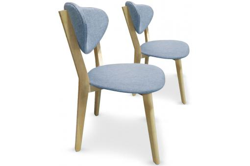 Lot De 2 Chaises Style Scandinave Bleu CARTER