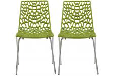 Lot De 2 Chaises Vertes Anis TRAVIATA - Chaise verte