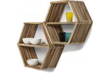 Lot de 2 Etagères Murales Nature MICADO - Etagere bois design