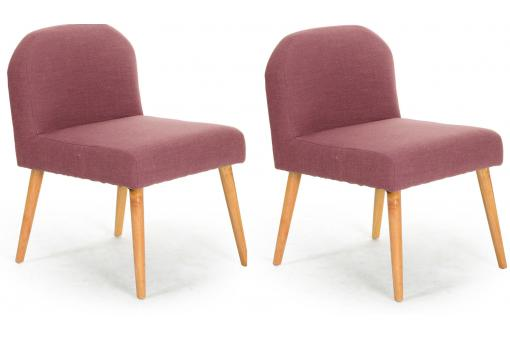 Lot de 2 Fauteuils Contemporains Parme Naturel