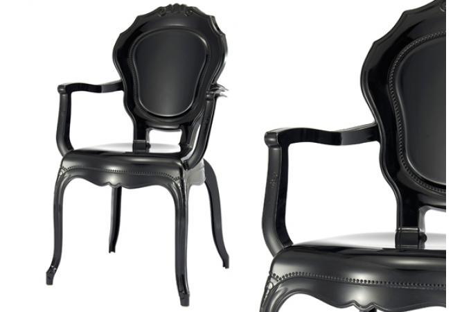 lot de 2 chaises polycarbonate transparent noir soleil chaise design pas cher. Black Bedroom Furniture Sets. Home Design Ideas
