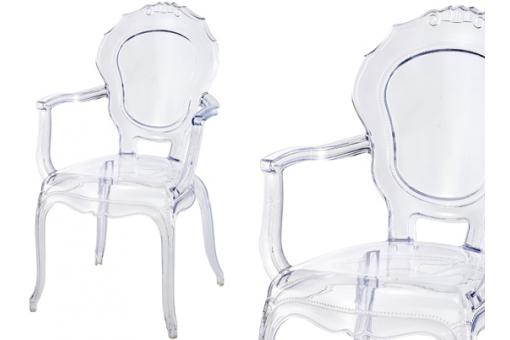 Lot de 2 Chaises Polycarbonate Transparent SOLEIL