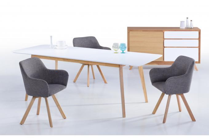 lot de 2 fauteuils scandinave tissu gris reinu fauteuil. Black Bedroom Furniture Sets. Home Design Ideas