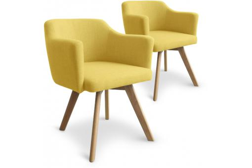 Lot De 2 Fauteuils Scandinaves Jaune LAYAL