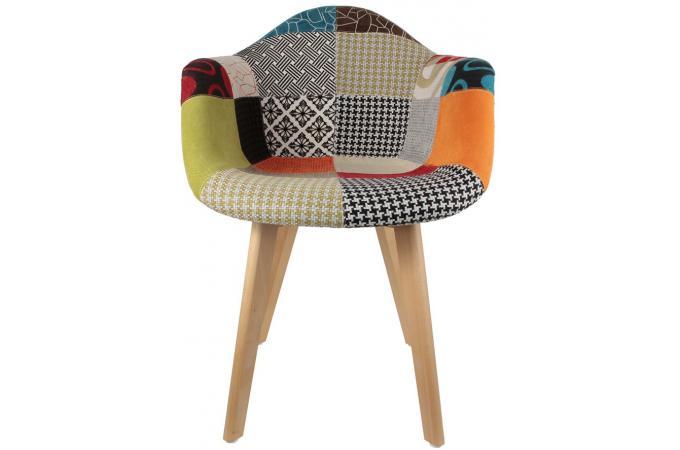 Lot de 2 chaises scandinaves avec accoudoir patchwork color es olfus chaise - Fauteuil patchwork pas cher ...