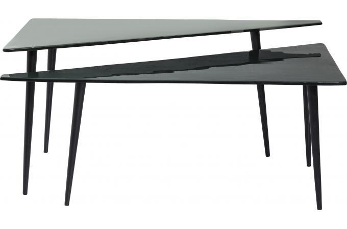 lot de 2 tables basses triangle la costa table basse pas cher. Black Bedroom Furniture Sets. Home Design Ideas