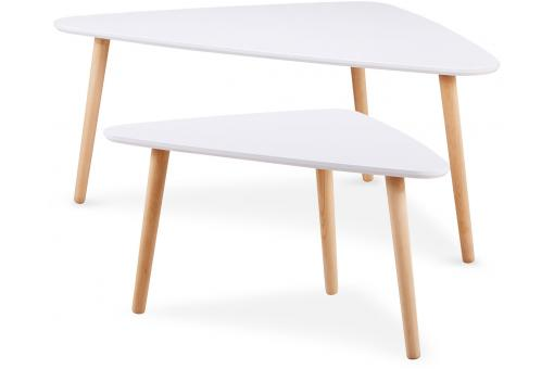 lot de 2 tables gigogne scandinave blanc rossetti table basse pas cher. Black Bedroom Furniture Sets. Home Design Ideas