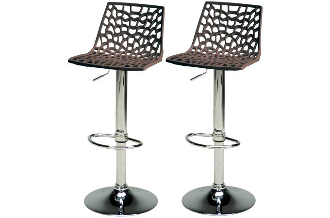 lot de 2 tabourets de bar ajustables marron sparte tabouret de bar pas cher. Black Bedroom Furniture Sets. Home Design Ideas
