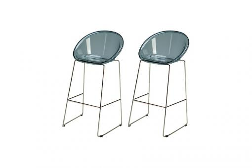 Lot de 2 Tabourets de Bar Design Fumé BOLD - Tabouret de bar design