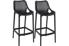 Lot de 2 Tabourets de bar design Noirs ALISON - Tabouret de bar noir design
