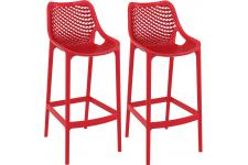 Lot de 2 Tabourets de bar design Rouges ALISON - Tabouret de bar rouge design